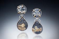 Slate with Gold Earrings by Nina Mann (Gold, Silver, & Stone Earrings)