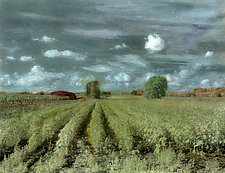 Vineyard in Fall by Elizabeth Holmes (Infrared, Hand Painted Photograph)