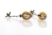 Golden Fruit Earrings by Sooyoung Kim (Gold, Silver, & Stone Earrings)