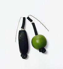 Martini Earrings by Dagmara Costello (Rubber & Wood Earrings)
