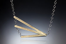 Fan Necklace by Suzanne Schwartz (Gold & Silver Necklace)
