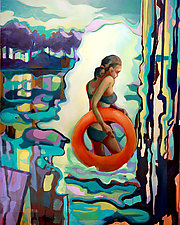 Inner Tube by Jason Watts (Oil Painting)