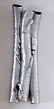 In Silver by Lenore Lampi (Ceramic Wall Sculpture)