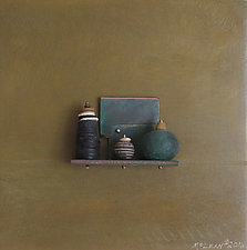 Bronze Still Life 63 by Jack McLean and Alice McLean (Metal Wall Sculpture)