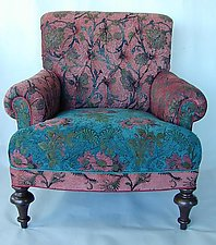 Middlebury Chair in Zinnia by Mary Lynn O'Shea (Upholstered Chair)
