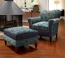 Molly Rose Chair in Aqua by Mary Lynn O'Shea (Upholstered Chair)