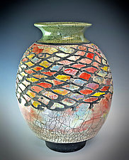 Harlequin Vase #2 by Tom Neugebauer (Ceramic Vase)