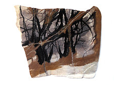 Stillness IV by Sharron Parker (Fiber Wall Hanging)