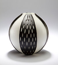 Wheel Cut Series by Christopher Jeffries (Art Glass Vase)