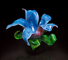 Bubble Gum Flower by April Wagner (Art Glass Sculpture)
