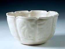 Embossed Handbuilt Porcelain Bowl for Anyone by Carol Barclay (Ceramic Bowl)
