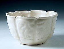 Embossed Handbuilt Porcelain Bowl for Anyone by Carol Barclay (Ceramic Bowl)