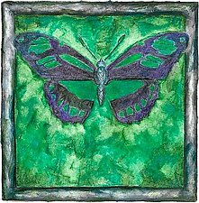 Green Butterfly by Rachel Tribble (Giclee Print)