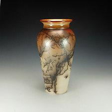 Horsehair Raku Jar by Lance Timco (Ceramic Vessel)