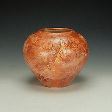 Sagger-Fired Raku Jar by Lance Timco (Ceramic Vessel)