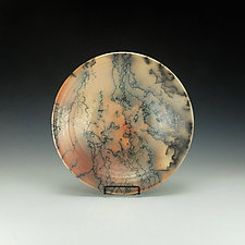 Horse Hair Raku Bowl by Lance Timco (Ceramic Bowl)