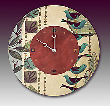 New Capri Wall Clock by Janna Ugone and Justin Thomas (Mixed Media Clock)