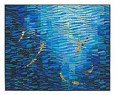 Koi Wave by Tim Harding (Fiber Wall Art)