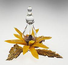 Sunflower Bottle by Loy Allen (Art Glass Perfume Bottle)