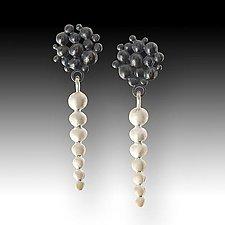 Pebble Drop Earrings by Susan Mahlstedt (Silver Earrings)