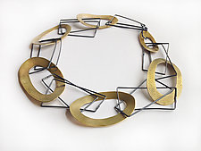 Sticks and Stones Necklace by Jane Pellicciotto (Silver & Bronze Necklace)