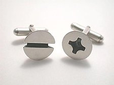 Screw Cufflinks by Connie Verrusio (Silver Cuff Links)