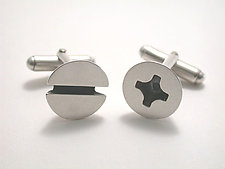 Screw Cuff Links by Connie Verrusio (Silver Cuff Links)