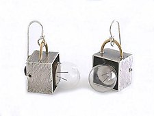 Lightbulb Earrings by Connie Verrusio (Silver & Brass Earrings)