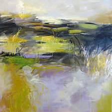 Fields with Green by Debora  Stewart (Oil Painting)