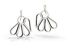 Layered Petal Earrings by Emily Shaffer (Silver Earrings)