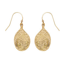 Hammered Teardrop Earrings by Julie Cohn (Bronze Earrings)