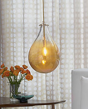 Teardrop Pendant by Tracy Glover (Art Glass Pendant Lamp)
