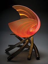 Hemisphere: Ripcurl by Brian Russell (Art Glass Sculpture)