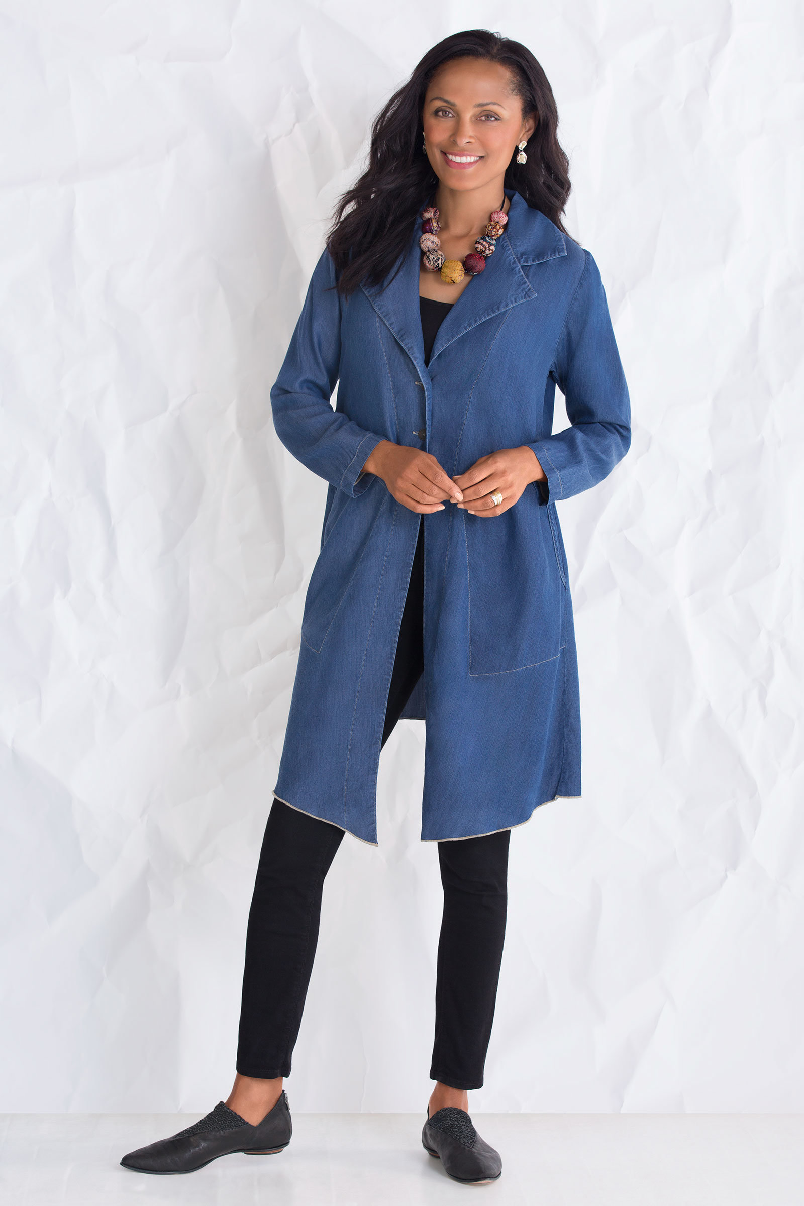 Tencel Duster By Cynthia Ashby Woven Jacket Artful Home