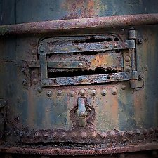 Vintage Steam Winch Detail Number 7 by Steven Keller (Color Photograph)