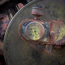 Vintage Steam Detail Number 3 by Steven Keller (Color Photograph)