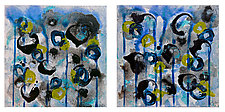 Bloom #6 Diptych by Joanie San Chirico (Acrylic Painting)