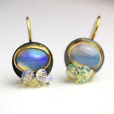 Ethiopian Opal Dangles and Clusters by Wendy Stauffer (Gold, Silver & Stone Earrings)