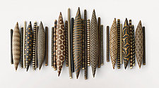 Domestic Markings: Balance by Kelly Jean Ohl (Ceramic Wall Sculpture)