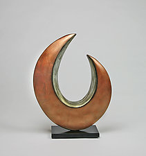 Quarter Moon by Cheryl Williams (Ceramic Sculpture)