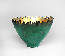 Around Town - Verde Patina by Cheryl Williams (Ceramic Bowl)