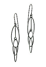 Interlocking Ovals Earrings by Grace Stokes (Silver Earrings)