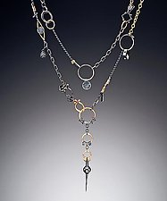 Black and Gold Avalon by Suzanne Q Evon (Gold & Silver Necklace)