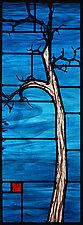 Copper Blue by Josephine A. Geiger (Art Glass Wall Sculpture)