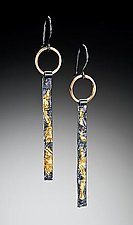 """""""Reticulated Sticks"""" by Suzanne Q Evon (Gold & Silver Earrings)"""