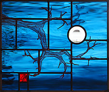 Branch of the Moon by Josephine A. Geiger (Art Glass Wall Sculpture)