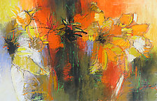 Orange Coneflowers by Debora  Stewart (Pastel Painting)