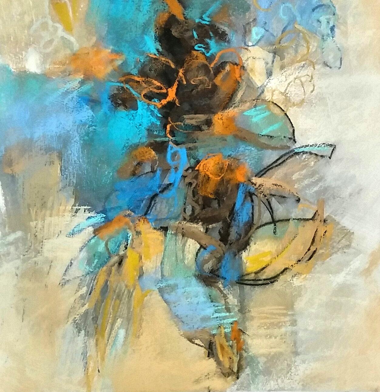 Blue Salvia By Debora Stewart Pastel Painting Artful Home