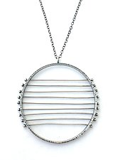 Nine-Line Horizon Necklace by Nikki Nation (Silver Necklace)