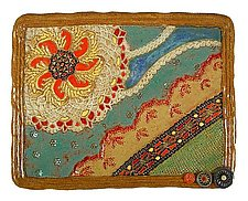 Garden Party Sun by Laurie Pollpeter Eskenazi (Ceramic Tray)